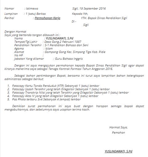 Pin Oleh Contoh Surat Lamaran Kerja Di Contoh Surat Lamaran Kerja