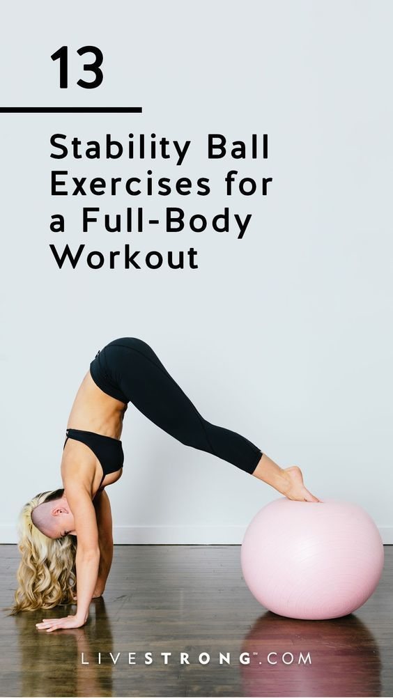13 Stability Ball Exercises for a Full-Body Workout | Livestrong.com
