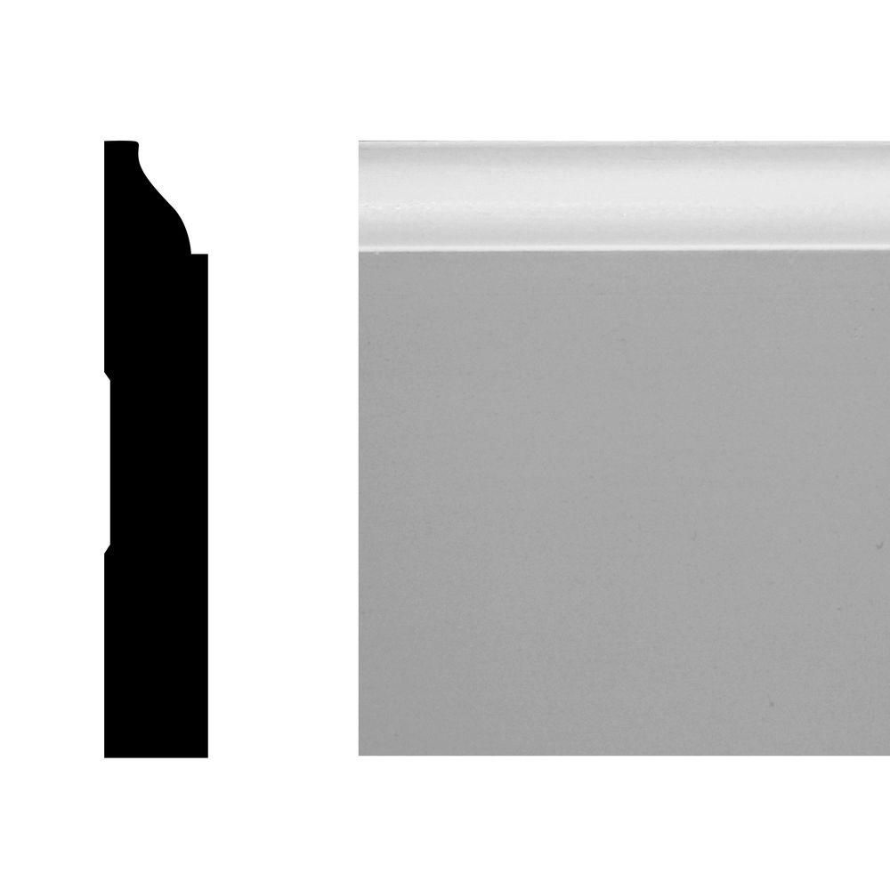 LWM 623 1/2 in. x 3 1/4 in. x 144 in. MDF Primed Base Moulding Pro Pack 120 LF (10-Pieces)-592715 - The Home Depot