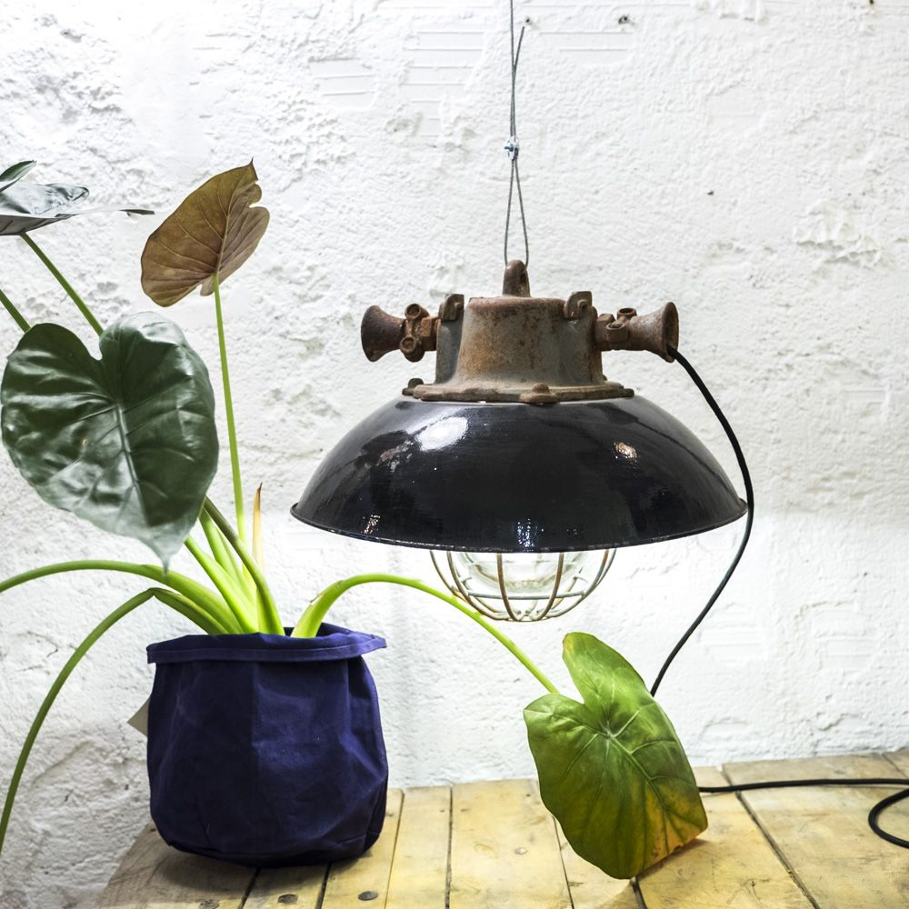 http://www.neukolln.es/shop/ Check our online store! PENDANT INDUSTRIAL BLACK LAMP METAL CAGE AND GLASS, BLACK CABLE SIZE:  Ø 45 CM