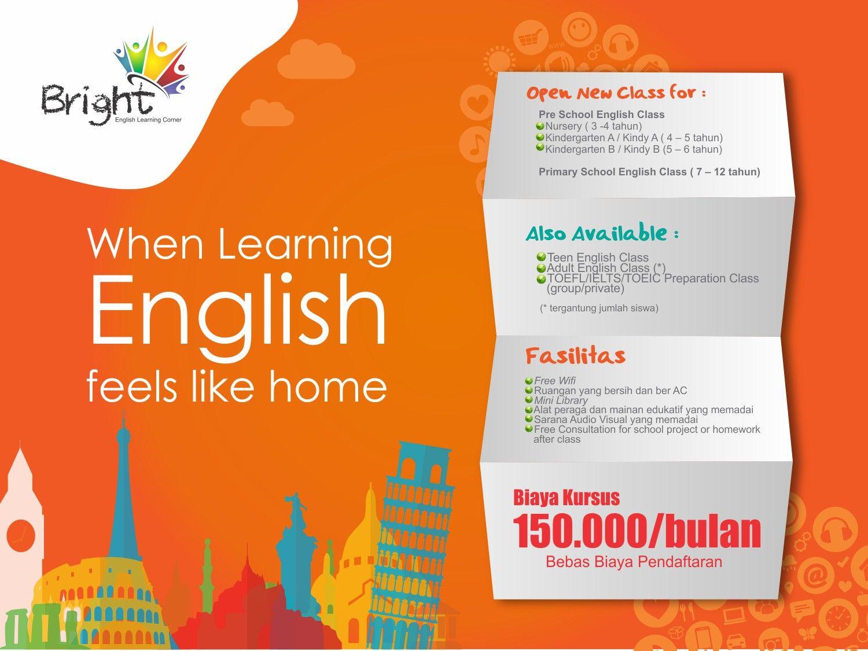 Desain Banner Kursus Bahasa Inggris Bright Untuk Lia Henora Di Halim
