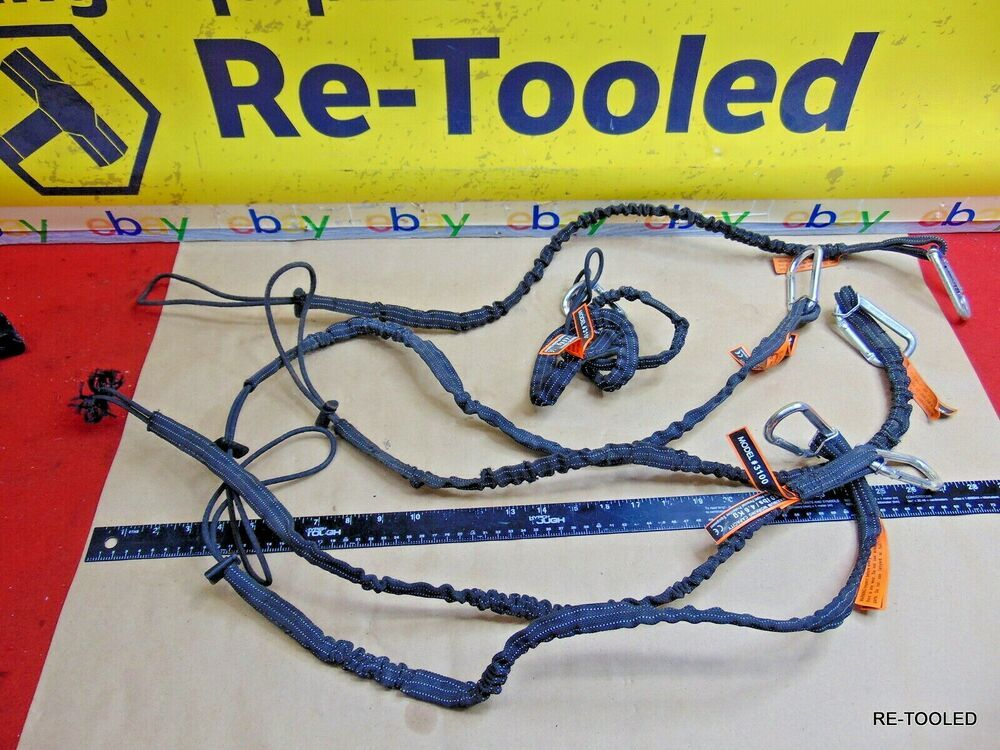 (6) Tool Lanyard, Quick Release Shock Absorbing Safety