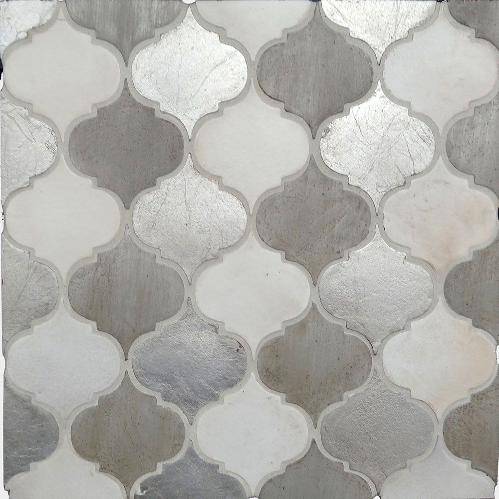 Field Arabesco Small 6 X 6 1 2 Thick Silver Brushed Oxford Latte Perfection Arabesque Tile Kitchen Backsplash House Tiles