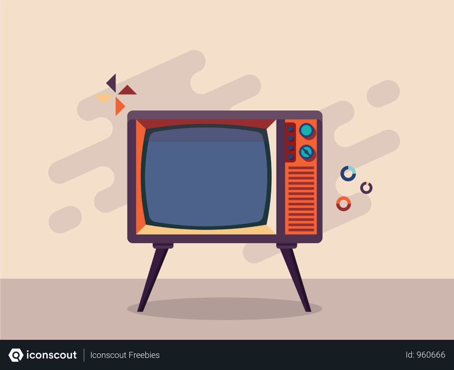Free Retro Television Illustration Download In Png Vector Format Retro Illustration Retro Tv Cute Cartoon Wallpapers