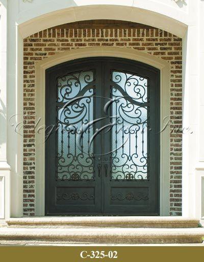 View Wrought Iron Entry Doors Wine Doors Railings - Elegante Iron - Dallas  & View Wrought Iron Entry Doors Wine Doors Railings - Elegante Iron ...