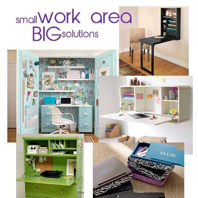 Big Solutions For Small Work Areas #organize #diy #decor Good Looking