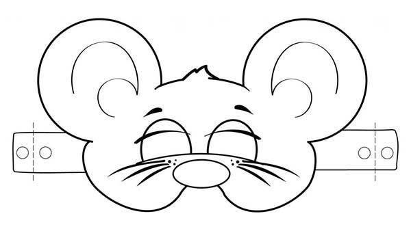 careta de raton para colorear - Buscar con Google | mascaras ...