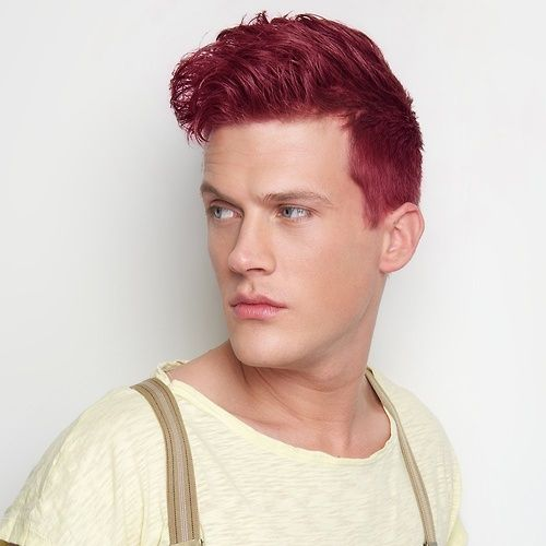 Red Haired Boy Dyedhair Dyed Hair Men Men Hair Color Mens