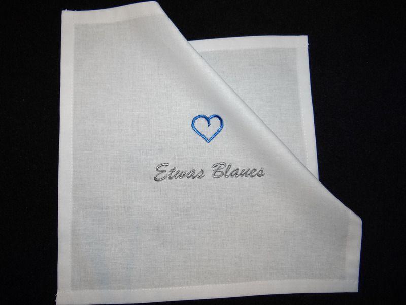 Etwas Blaues Handgefertigtes Taschentuchlein Fur Die Freudentranen Hochzeit Trauzeugin Tuch