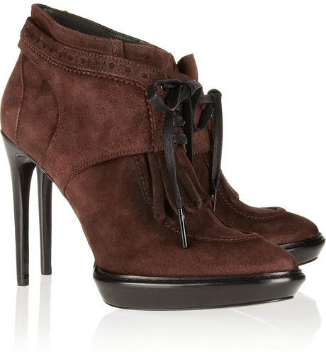 Burberry Suede Kiltie Booties cheap price free shipping real for sale 94fc5xY3f