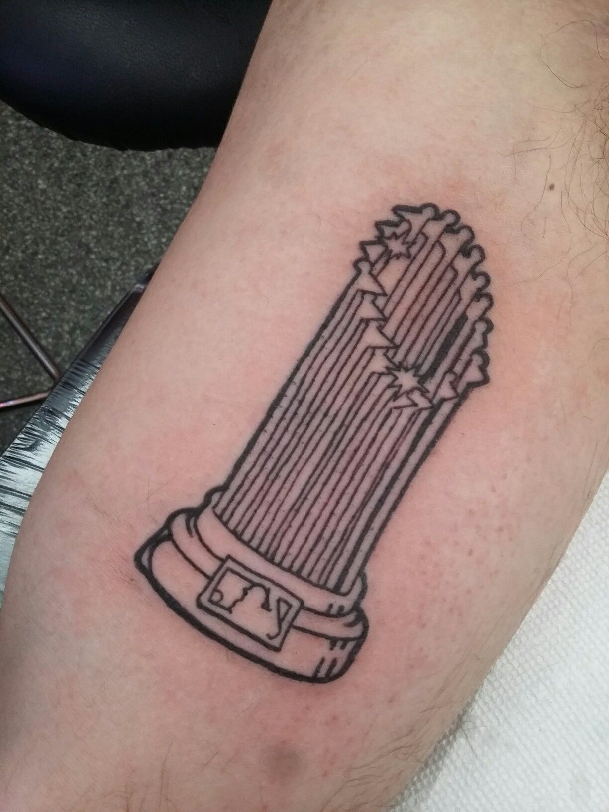 World series trophy tattoo for the chicago cubs chicago for World series tattoo