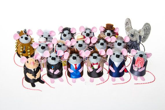 FULL SET 13 Doctors AND Monsters Doctor Who Mice artisan felt mouse rat mice hamster cute gift for dr who fan collector by The House of Mouse #mouse #mice #rat #rodent #Cute #animal #adorable #ornament #collectable #etsy #etsyseller #etsystore #etsyshop #handmade #artisan #art  #funny #humour #fun #thehouseofmouse #houseofmouse #doctorwho #drwho #thedoctor #collection #fanart #bbc #scifi #fantasy