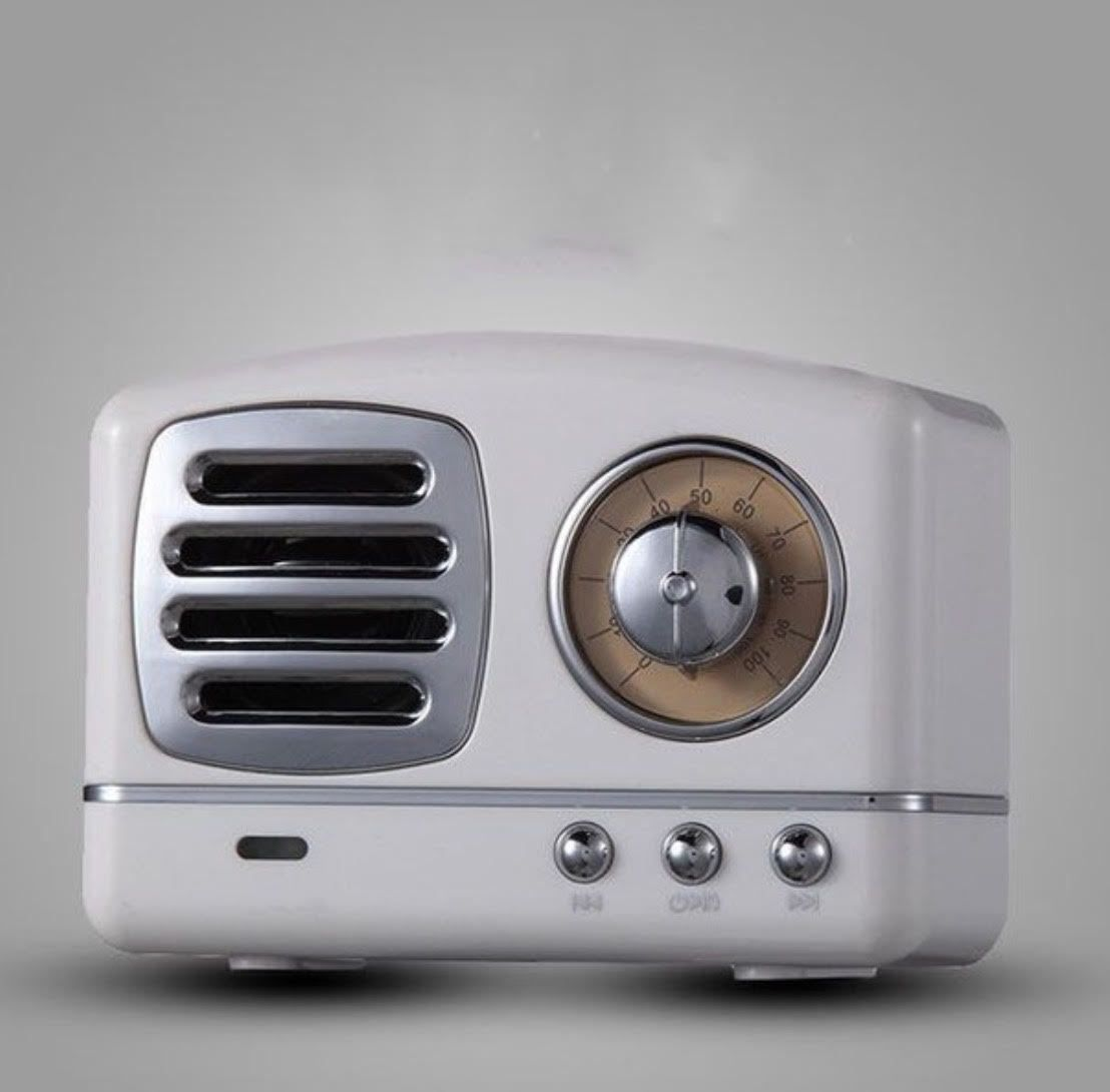 Mini White Retro Radio Bluetooth Speaker White Speaker