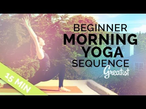 this easy 15minute morning yoga routine will wake you up