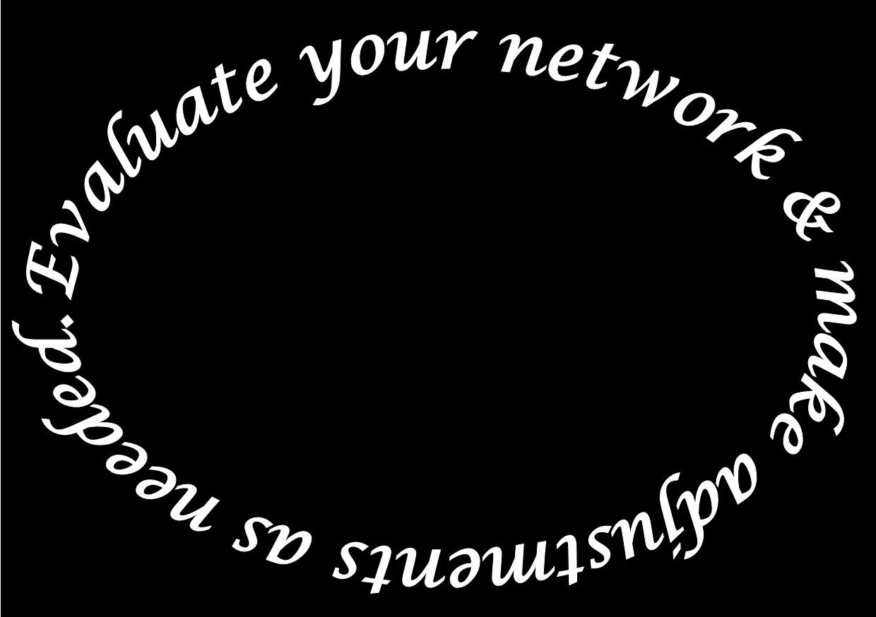 After you evaluate your network you will add and remove