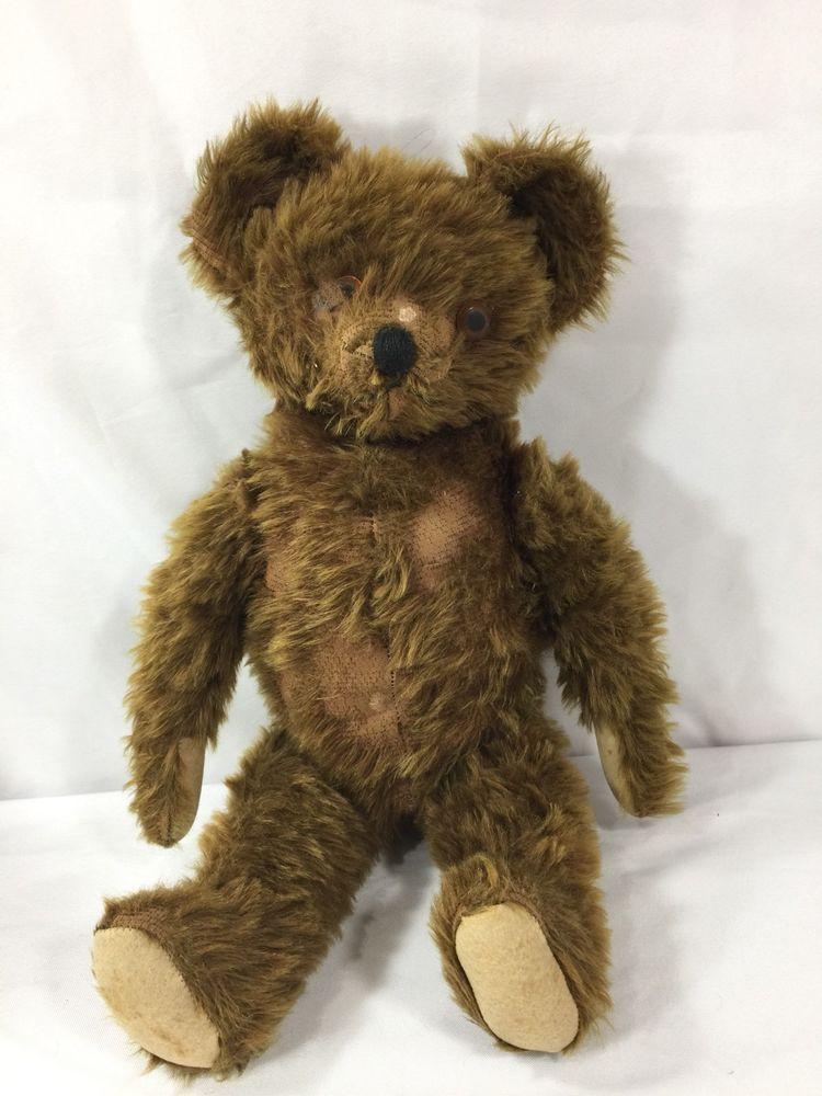1940s bear vintage mohair teddy bear stuffed bear antique teddy bear Vintage teddy bear vintage bear vintage stuffed animal black bear