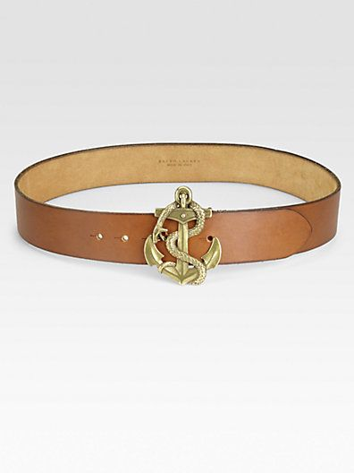 Ralph Lauren Blue Label - Anchor-Buckle Belt - Saks.com