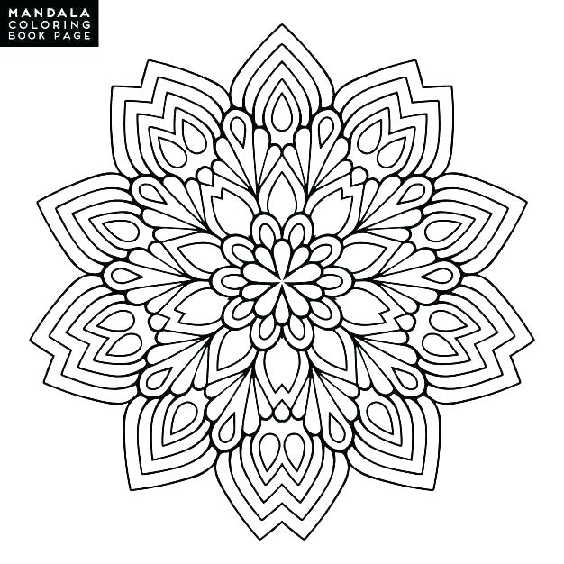 Flower Coloring Pages For Adults Full Size Coloring Pages Intricate Flower Of Hard To Printable Mandala Coloring Pages Mandala Coloring Mandala Coloring Books