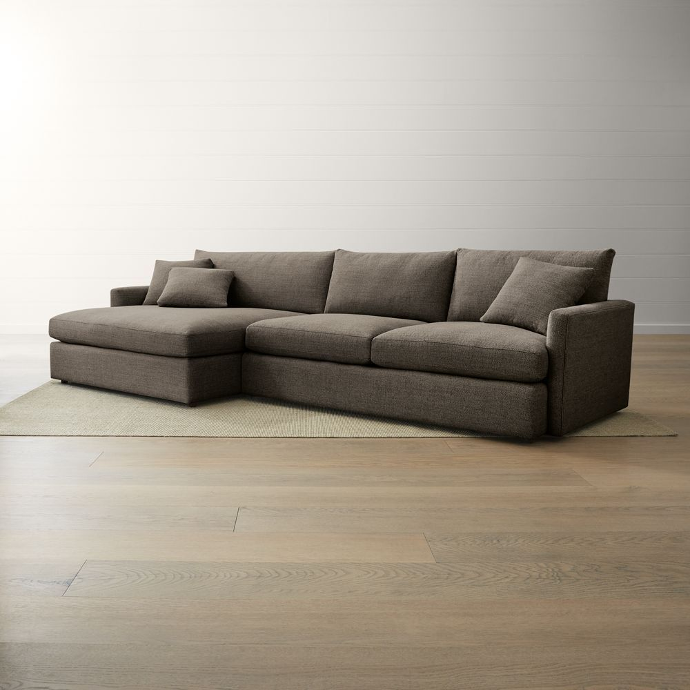 Lounge ii petite 2 piece left arm double chaise sectional sofa