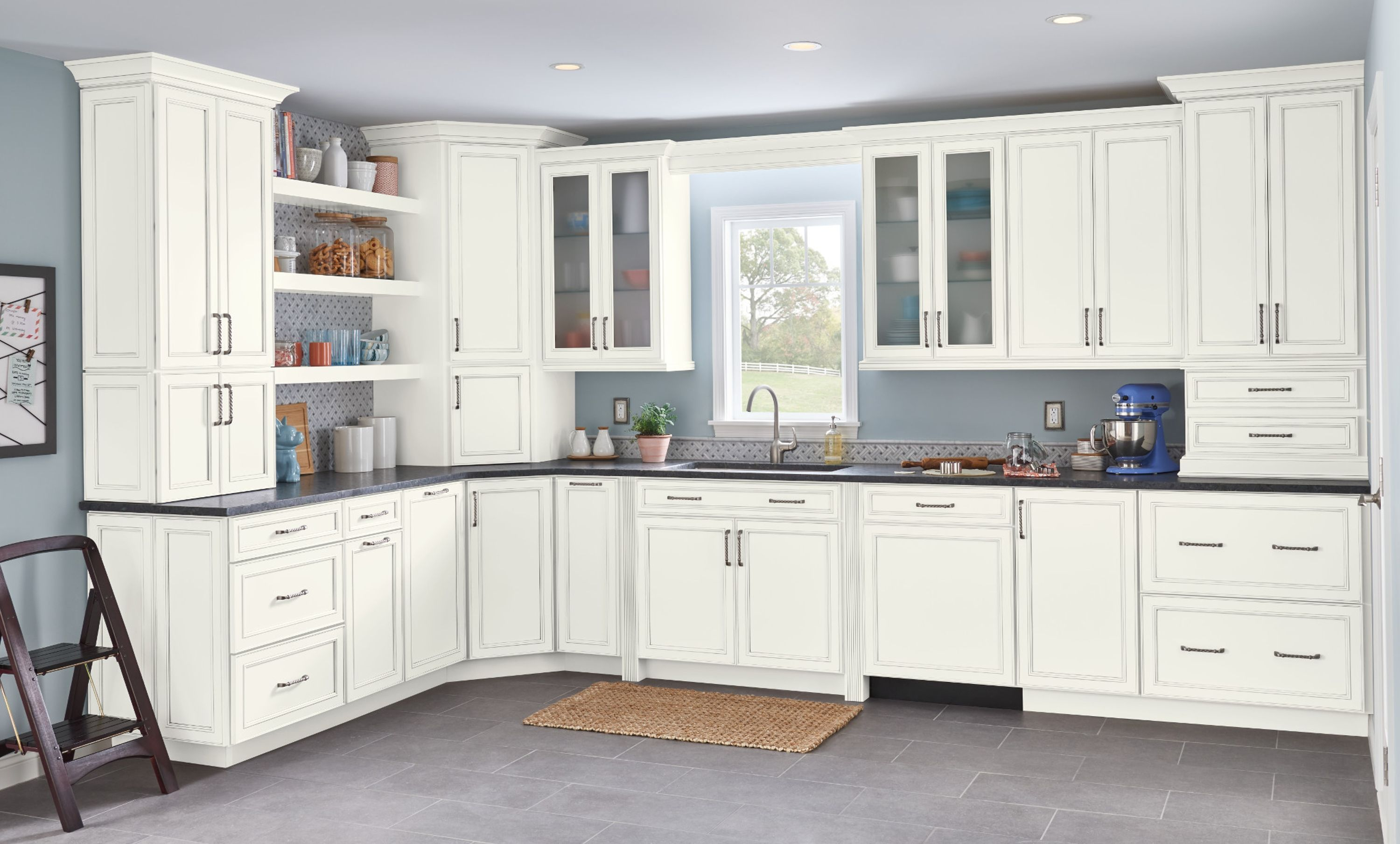 Best Painted Cabinets Cherry Cabinets American Woodmark 400 x 300