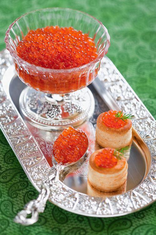Salmon Caviar: this bright golden-orange or reddish-orange caviar is the…