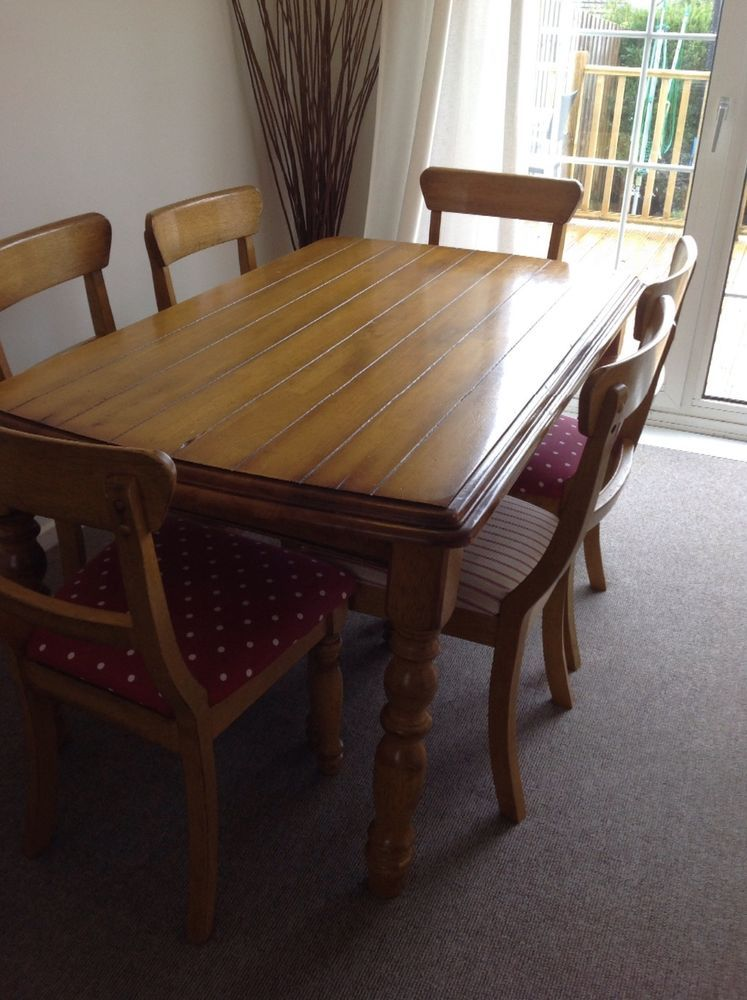 Solid wood dining table and chairs