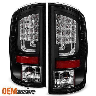 2002 2006 Dodge Ram 1500 2003 2006 2500 3500 Pickup Black Led Bar Tail Lights Led Tail Lights Dodge Ram Tail Light