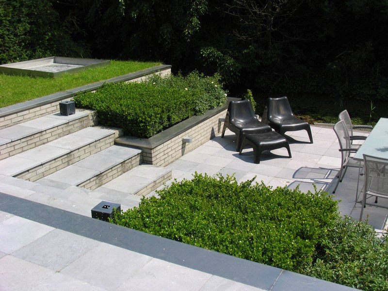 Tuinontwerp met groot hoogteverschil tuin ideeen - Trap ontwerpen ...