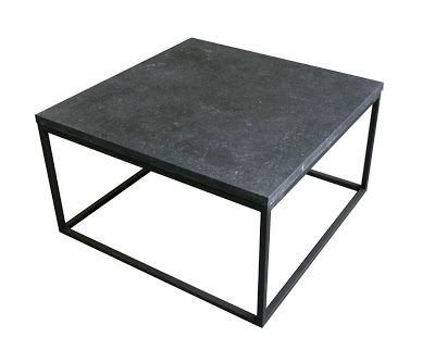 Malvini Belgium: SIDETABLE, COFFEE TABLE: OAK, METAL AND BLUESTONE