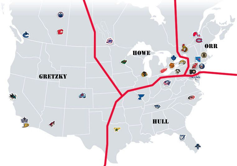 Nhl Realignment Project Maps Week 8 Canadian Madness Map Nhl Projects