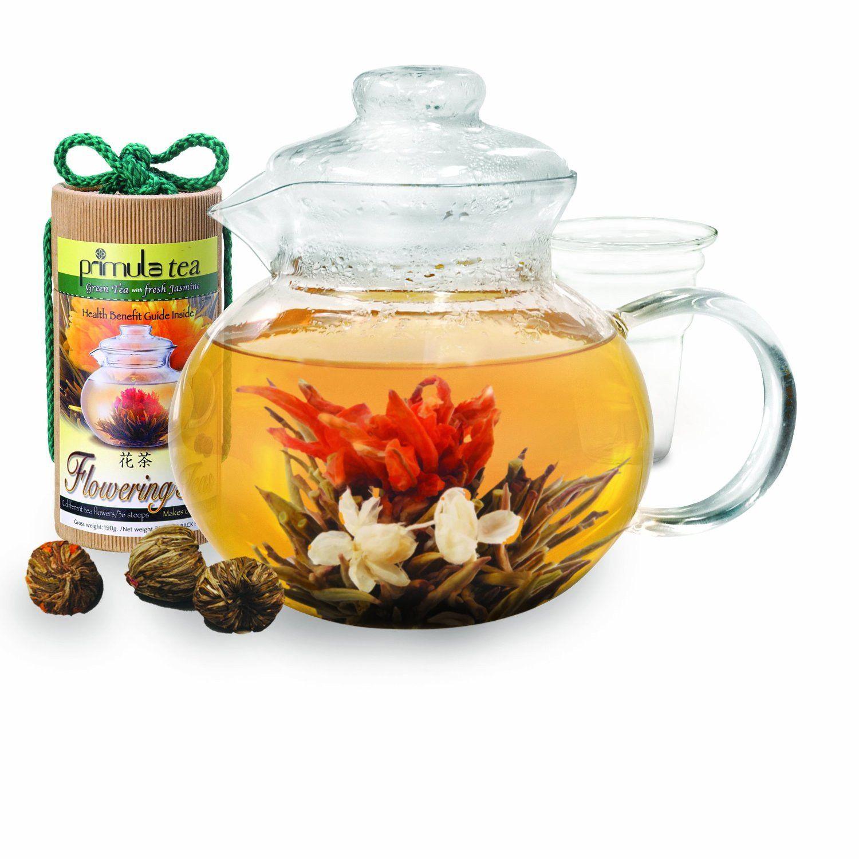 Clear Teapot With Blooming Flowers Tea Pinterest Teapot Teas
