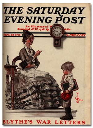 """Late for School,"" Sep. 19, 1914, by J. C. Leyendecker"