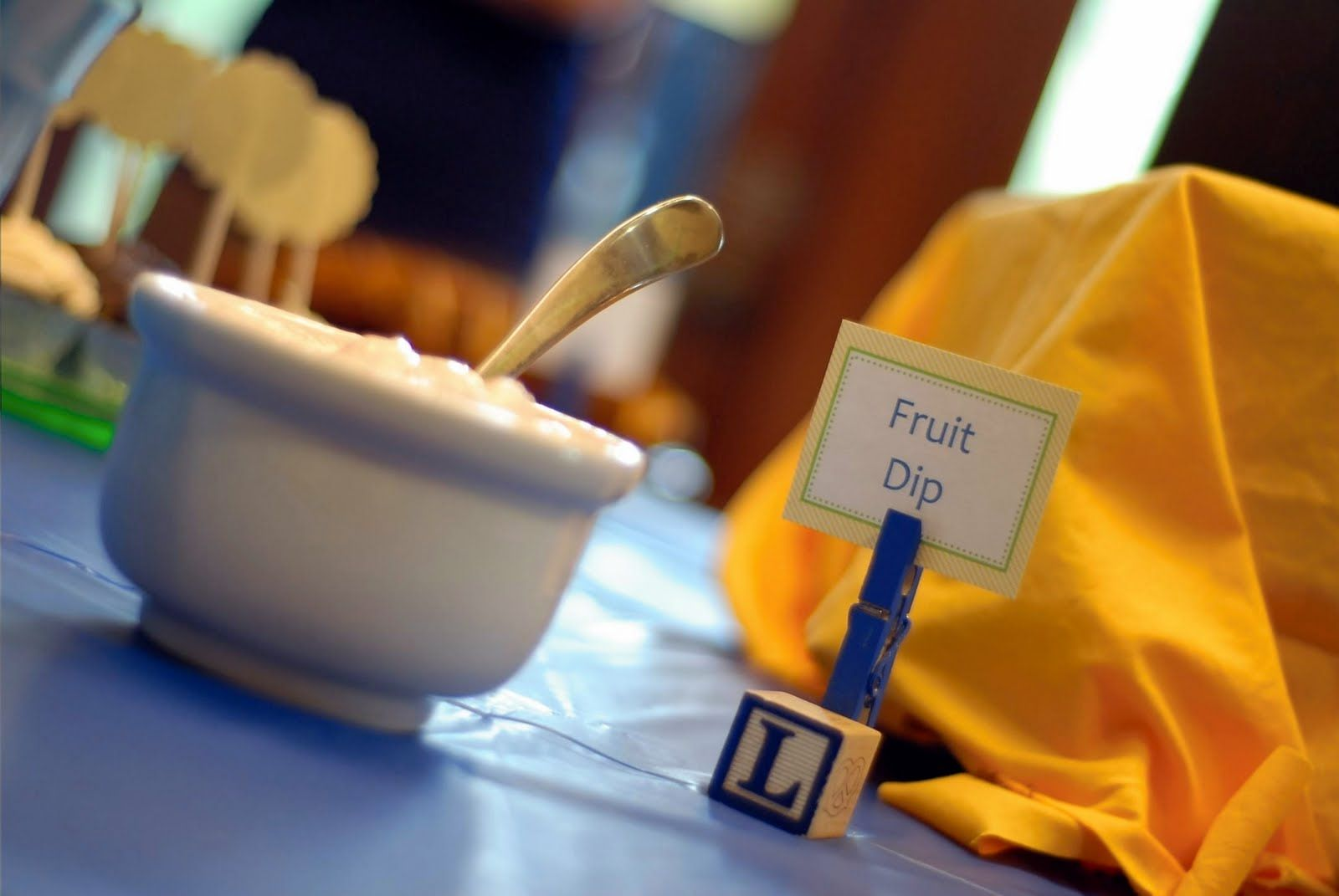 """Food """"name tag"""" holders 