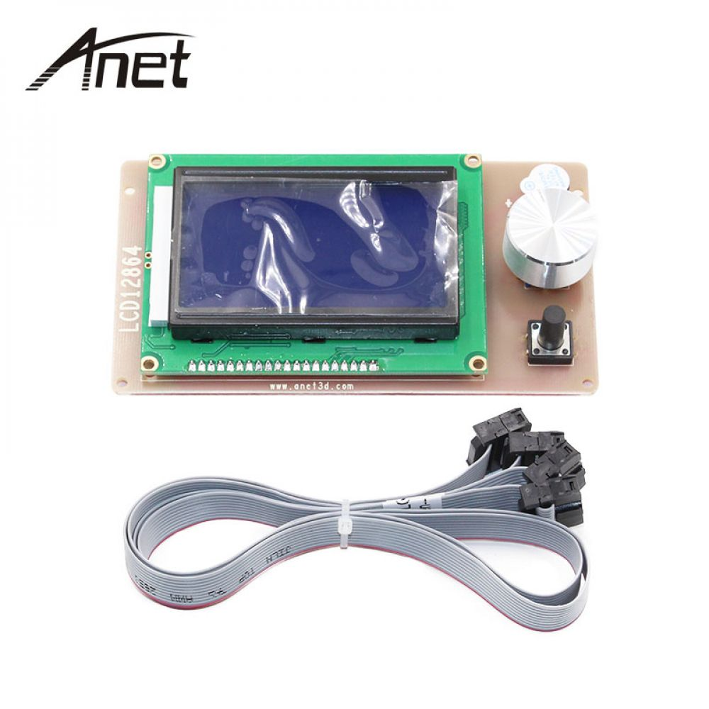 Anet A6 12864 LCD Smart Display Screen Controller Module with Cable