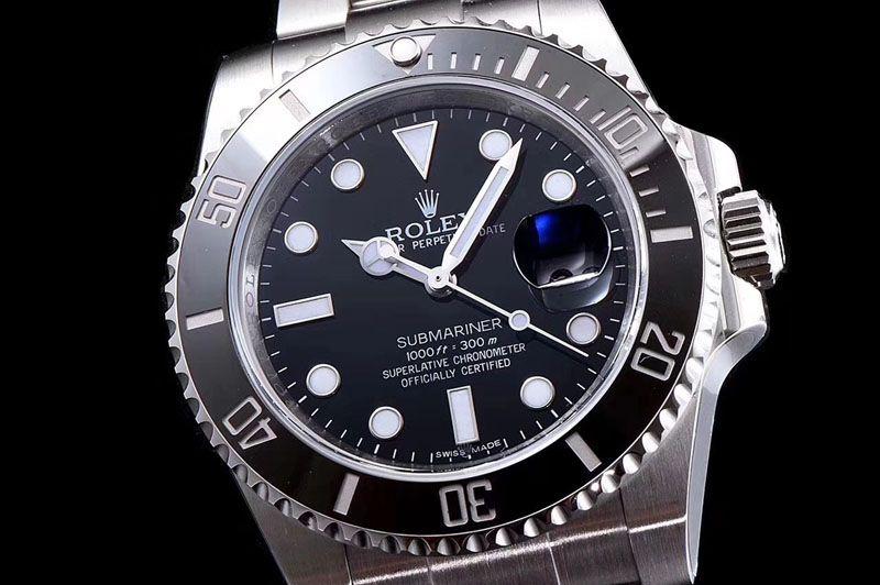 Rolex Submariner 116610 LN Black Ceramic 1:1 ARF A2824