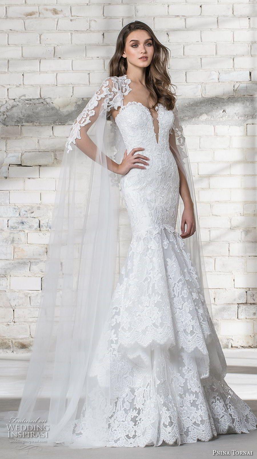 Lace over tulle wedding dress january 2019 Pnina Tornai  Wedding Dresses u ucLoveud Bridal Collection