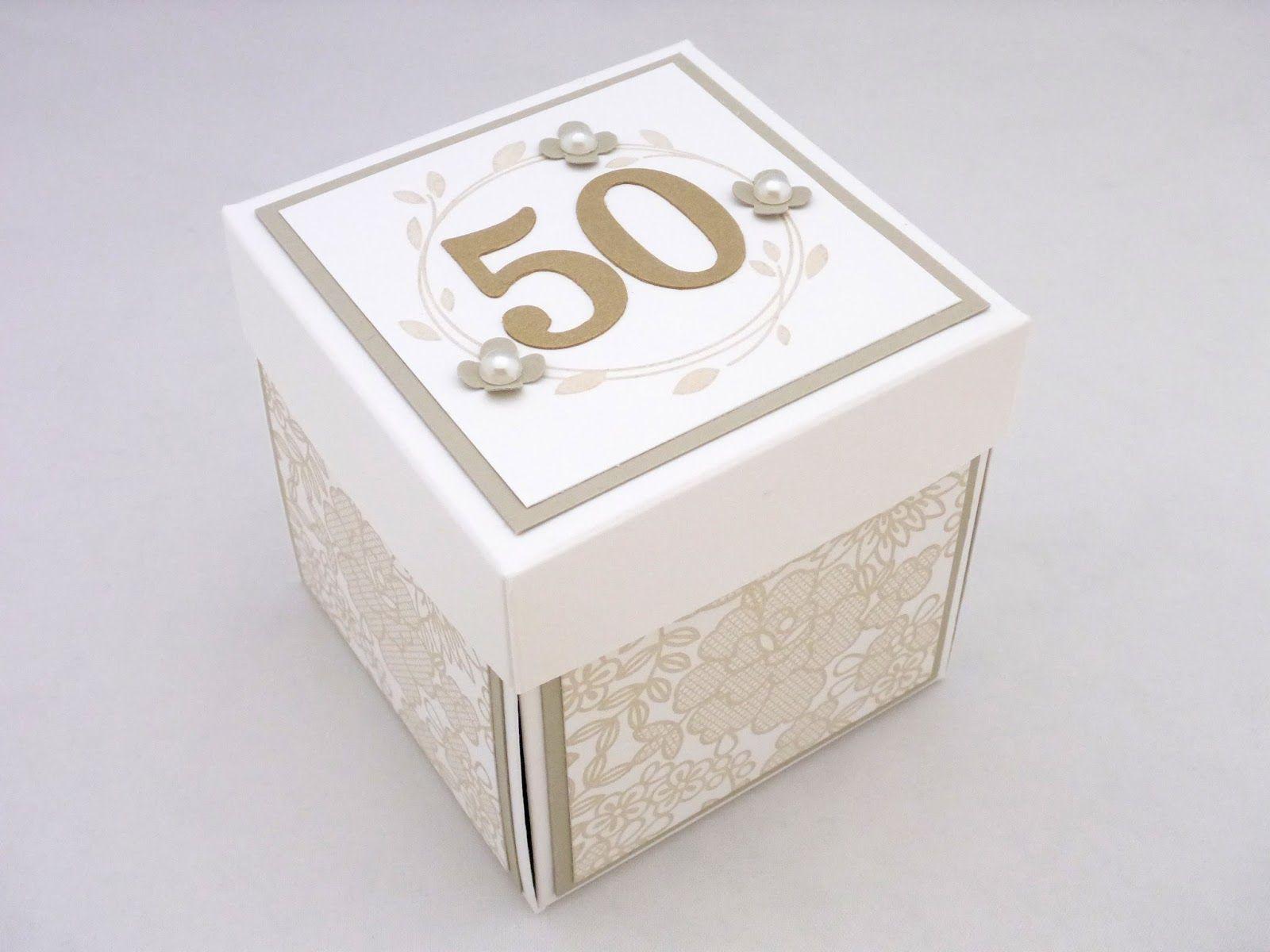 Die Goldene Hochzeit Meiner Eltern Habe Ich Dann Auch Gleich Zum Anlass Genommen Meine Er Geschenkbox Hochzeit Geschenke Zur Goldenen Hochzeit Goldene Hochzeit