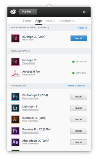 Creative Cloud Help | Install, update, or uninstall apps | Photoshop