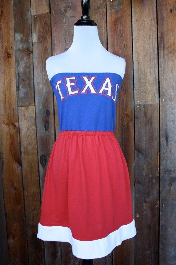 Texas Rangers Baseball Strapless Game Day Dress Size Small Gameday Dress Texas Rangers Baseball Rangers Baseball