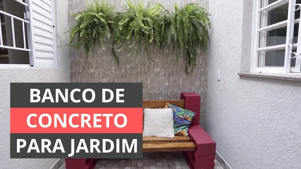 Como Fazer Banco De Concreto Para Jardim Apenda A Fazer Um Banco
