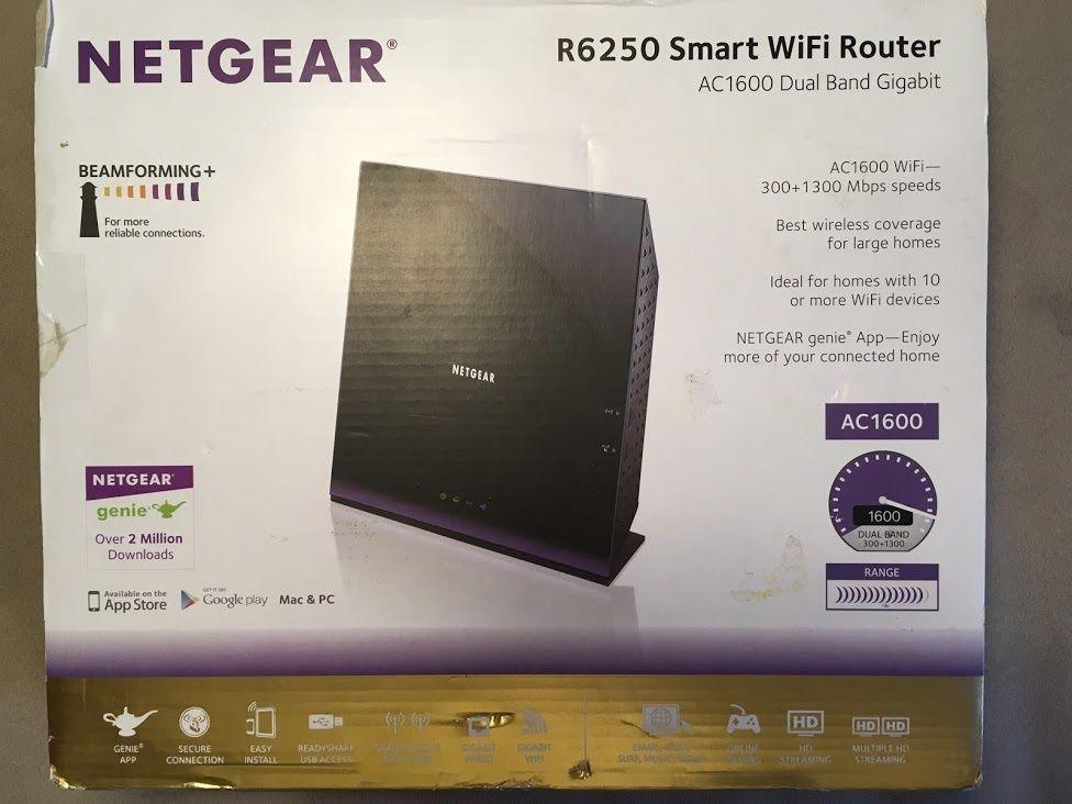 NETGEAR R6250 SMART WiFi ROUTER AC1600 DUAL BAND GIGAB