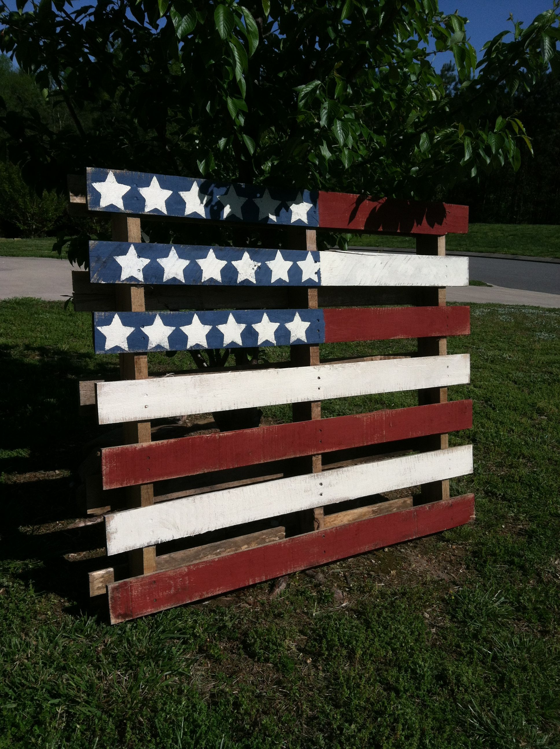 Muebles Bandera American Flag Pallet Love This For An Idea For Church