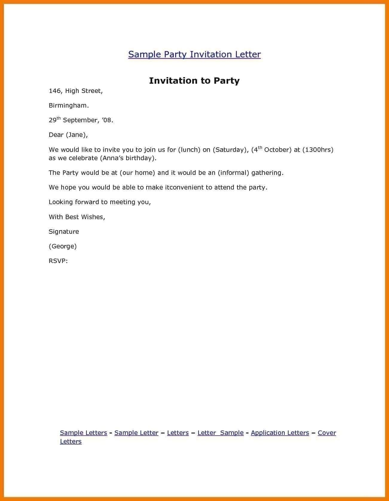 example of letter invitation birthday check more at