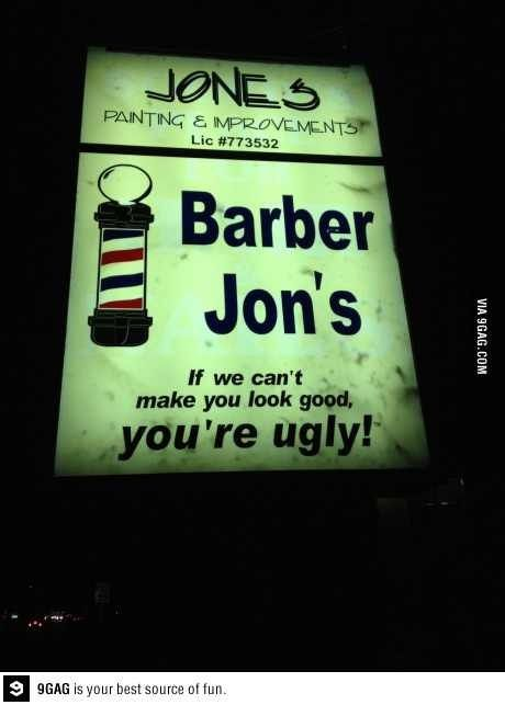 Barber Jon's | 11 More Of The Best/Worst Local Business Slogans