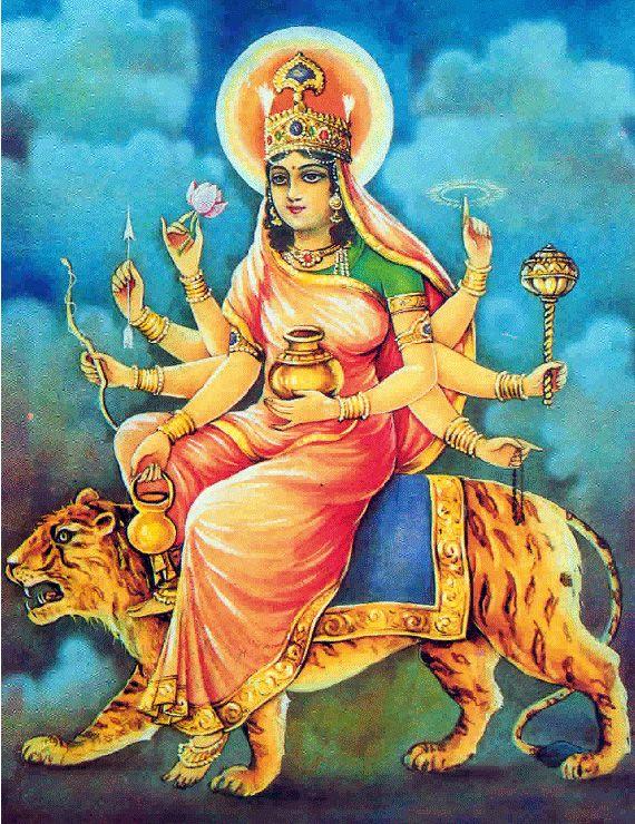 Navratri special Day 3: Jai Maa Chandraghanta (see pics) | Durga goddess,  Durga, Hindu art