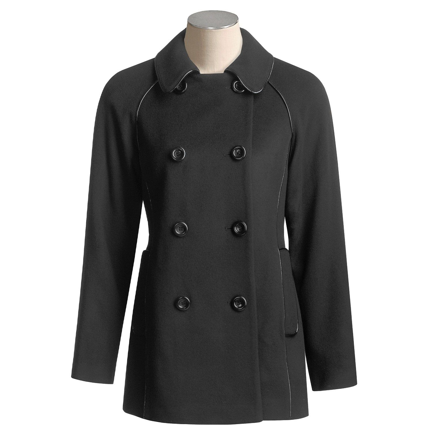 Jonathan Michael Lambswool Jacket - Double-Breasted (For Women) in Black