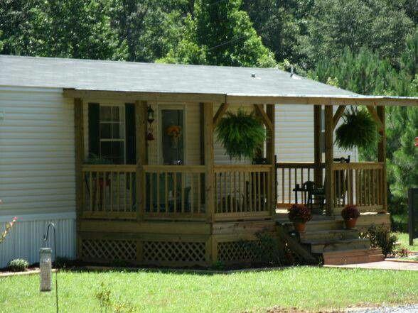 For Back But Screened Mobile Home Porch Porch Design Home Porch