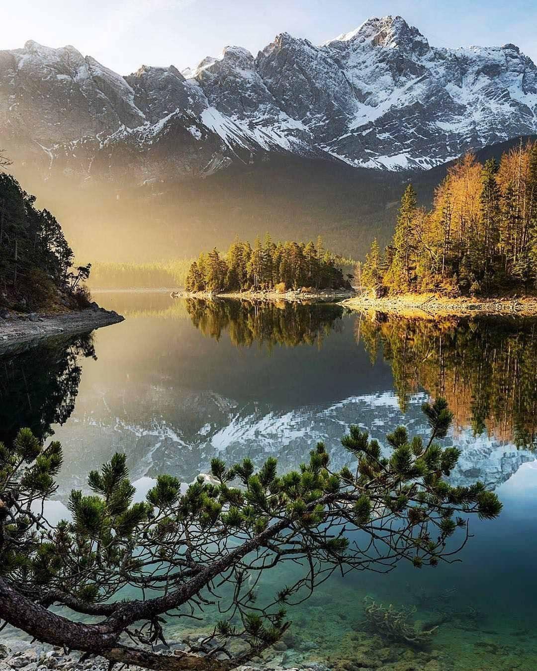 Eibsee Lake Bayern Germany Beautiful Nature Nature
