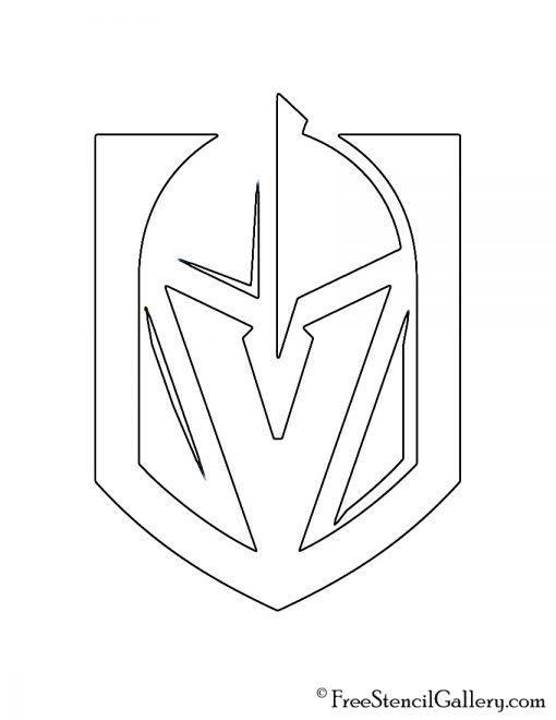 NHL Vegas Golden Knights Logo Stencil Free Stencil