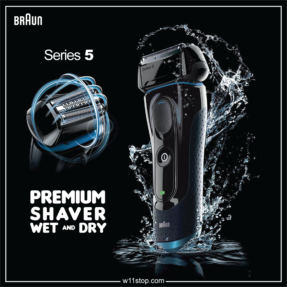 Braun Series 5 Shaver. Succeeds where others fail. Lets